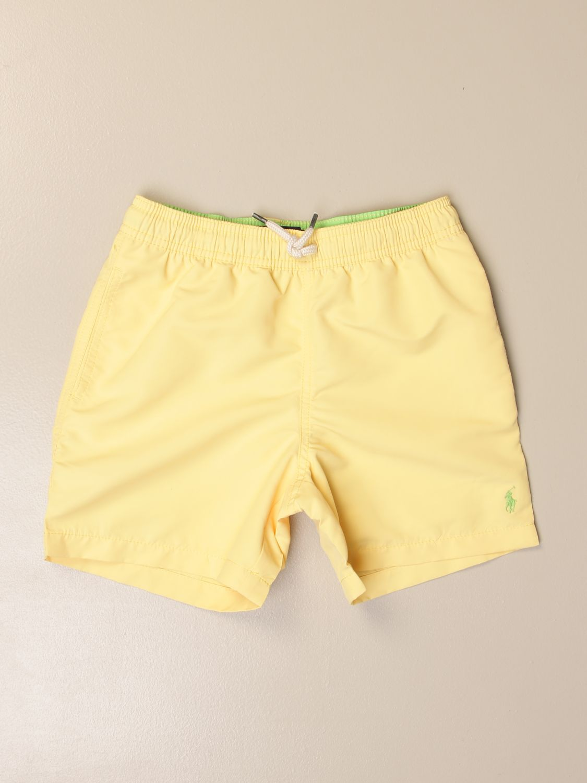 Swimsuit Polo Ralph Lauren Toddler: Polo Ralph Lauren Toddler boxer swimsuit with logo yellow 1