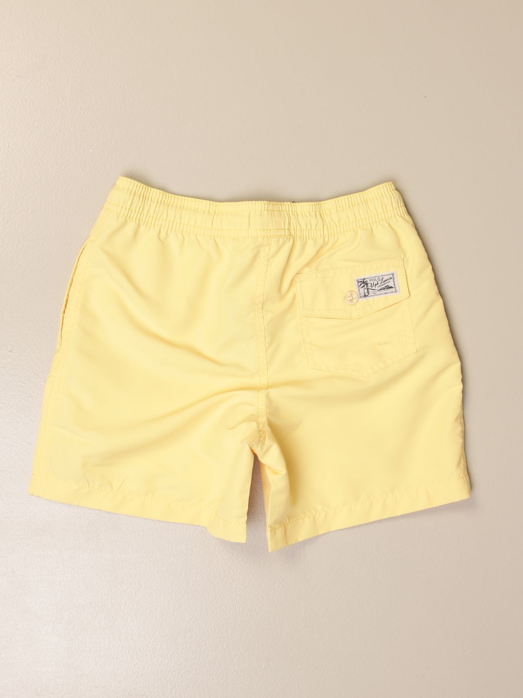 Swimsuit Polo Ralph Lauren Toddler: Polo Ralph Lauren Toddler boxer swimsuit with logo yellow 2