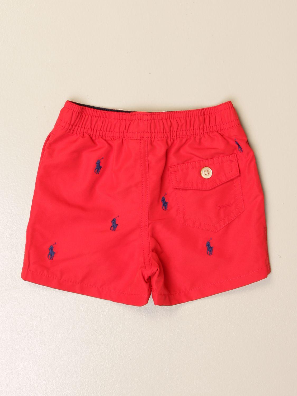 Costume Polo Ralph Lauren Infant: Costume Polo Ralph Lauren Infant con logo ricamato all over rosso 2