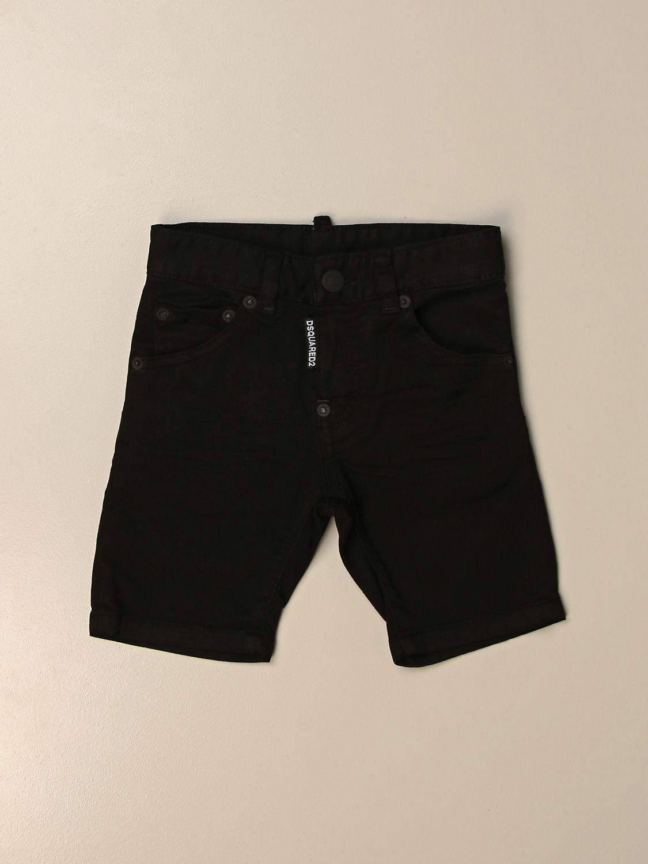 Pantaloncino Dsquared2 Junior: Pantaloncino a 5 tasche Dsquared2 Junior nero 1