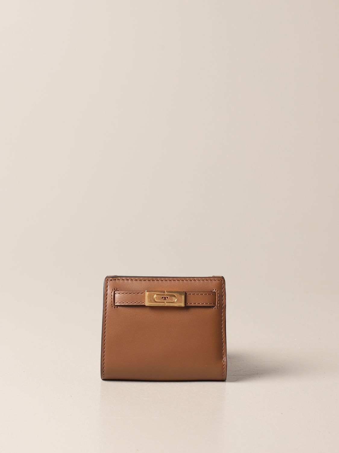 Wallet Tory Burch: Tory Burch wallet in smooth leather brown 1