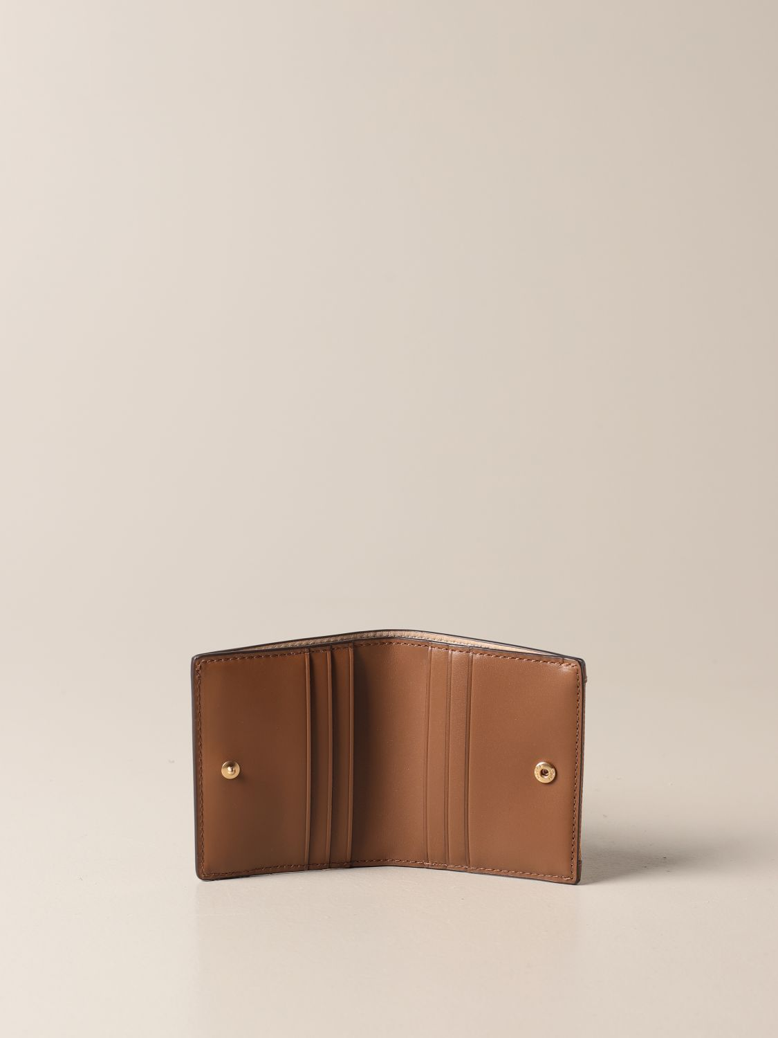 Wallet Tory Burch: Tory Burch wallet in smooth leather brown 2