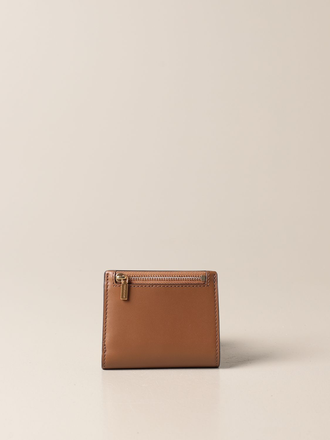 Wallet Tory Burch: Tory Burch wallet in smooth leather brown 3