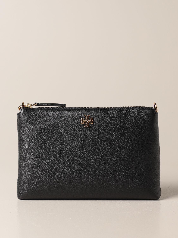 Crossbody bags Tory Burch: Kira Pebbled Tory Burch crossbody bag in textured leather black 1