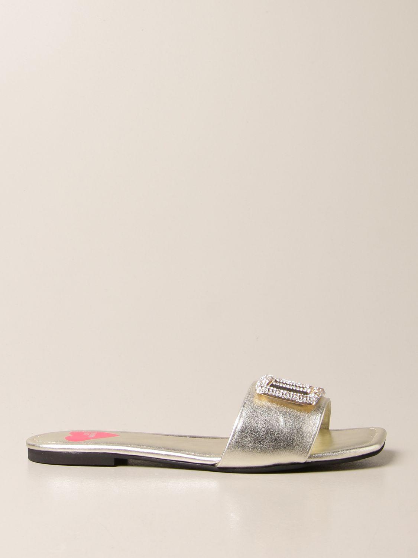 Flache Sandalen Love Moschino: Sandalen mit absatz damen Love Moschino platinum 1