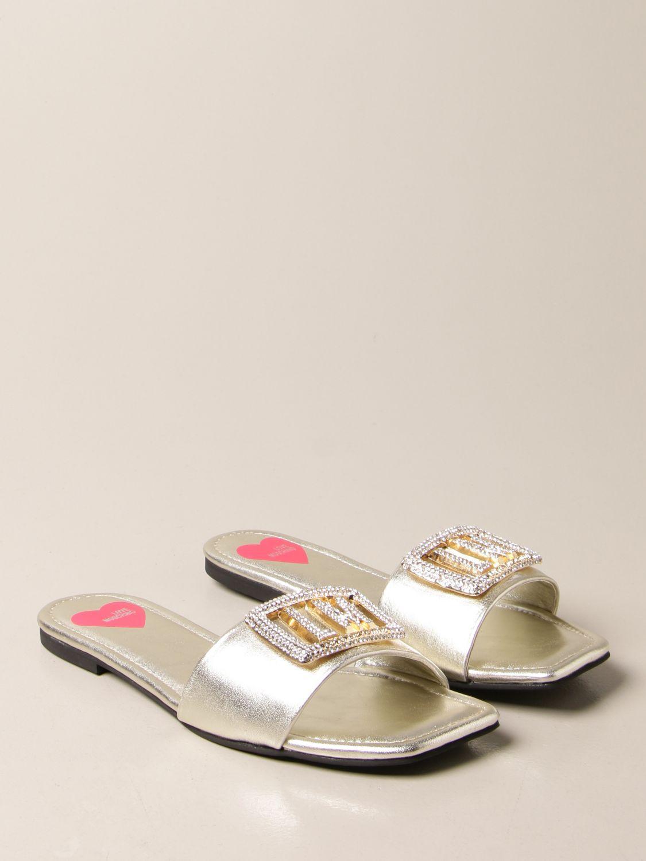 Flache Sandalen Love Moschino: Sandalen mit absatz damen Love Moschino platinum 2