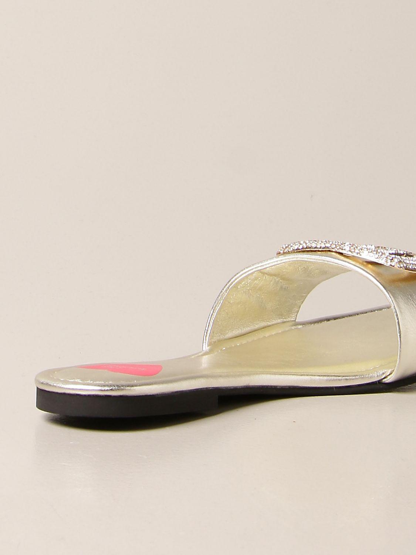 Flache Sandalen Love Moschino: Sandalen mit absatz damen Love Moschino platinum 3
