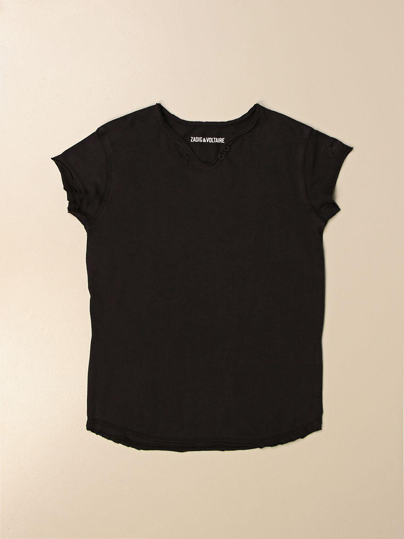Camiseta Zadig & Voltaire: Camiseta niños Zadig & Voltaire negro 1
