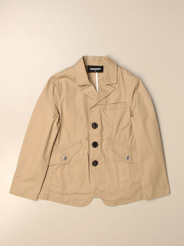 Куртка Dsquared2 Junior: Куртка Детское Dsquared2 Junior желто-коричневый 1
