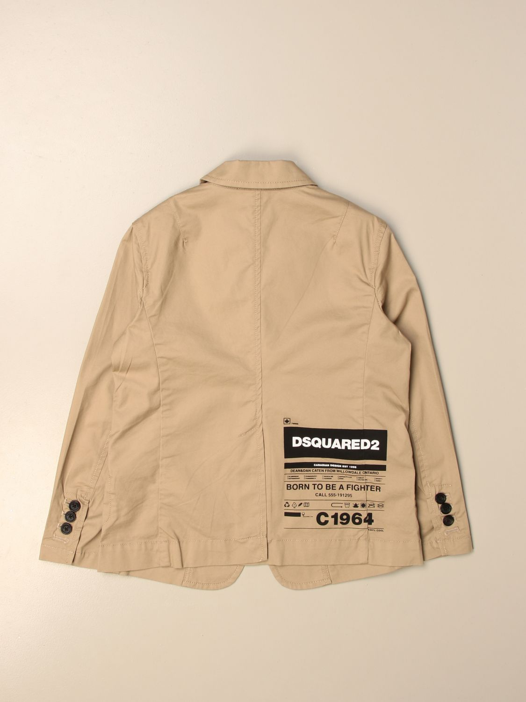 Куртка Dsquared2 Junior: Куртка Детское Dsquared2 Junior желто-коричневый 2
