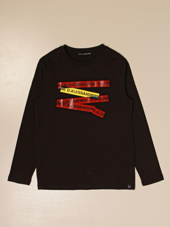 T-shirt Daniele Alessandrini: Daniele Alessandrini cotton t-shirt with logo black 1