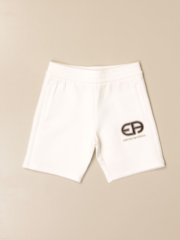 Pantaloncini Emporio Armani: Pantaloncino jogging Emporio Armani con logo bianco 1