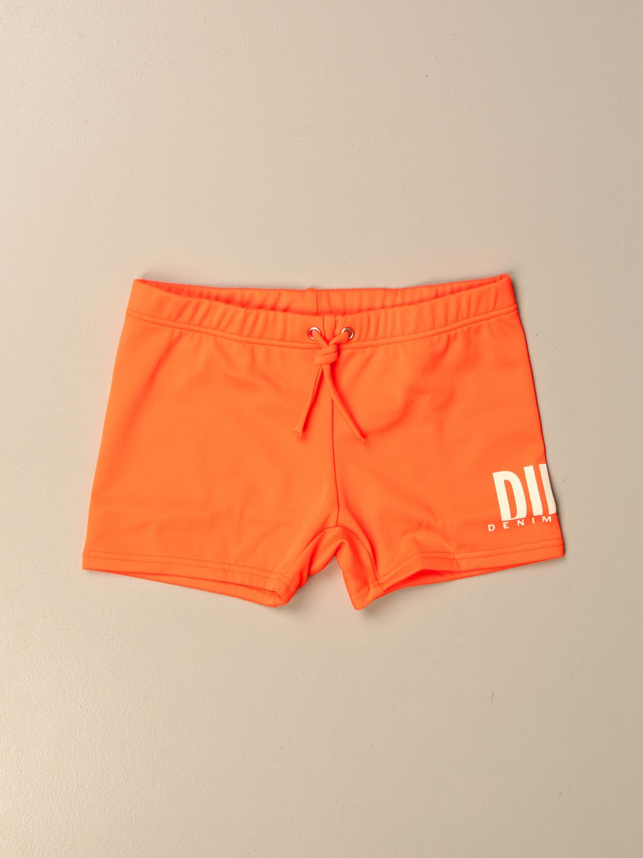 Costume Diesel: Costume a pantaloncino Diesel con logo arancione 1