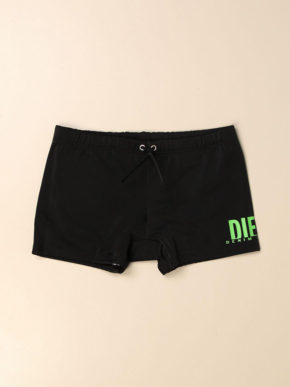 Costume Diesel: Costume a pantaloncino Diesel con logo nero 1