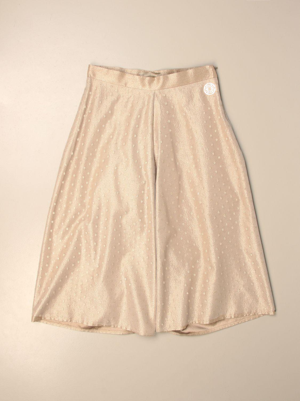 Pantalone Elie Saab: Pantalone ampio Elie Saab in tulle point d'esprit oro 1