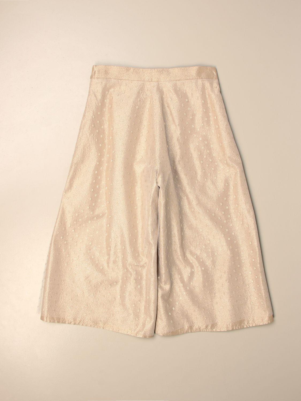 Pantalone Elie Saab: Pantalone ampio Elie Saab in tulle point d'esprit oro 2