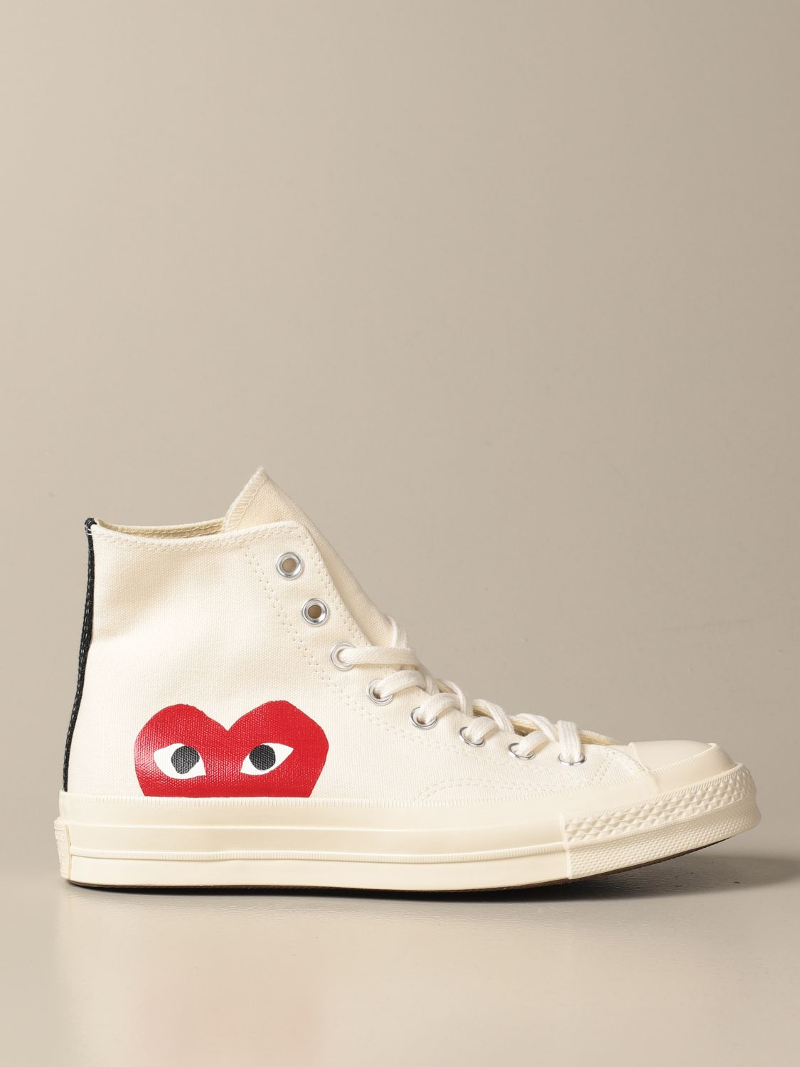 Sneakers Comme Des Garcons Play x Converse in tela