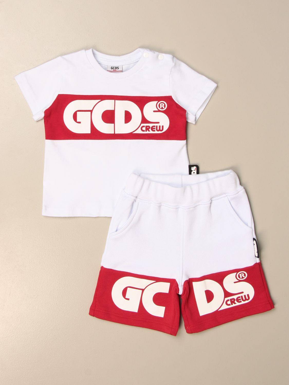 Jumpsuit Gcds: Gcds t-shirt + jogging shorts set white 1