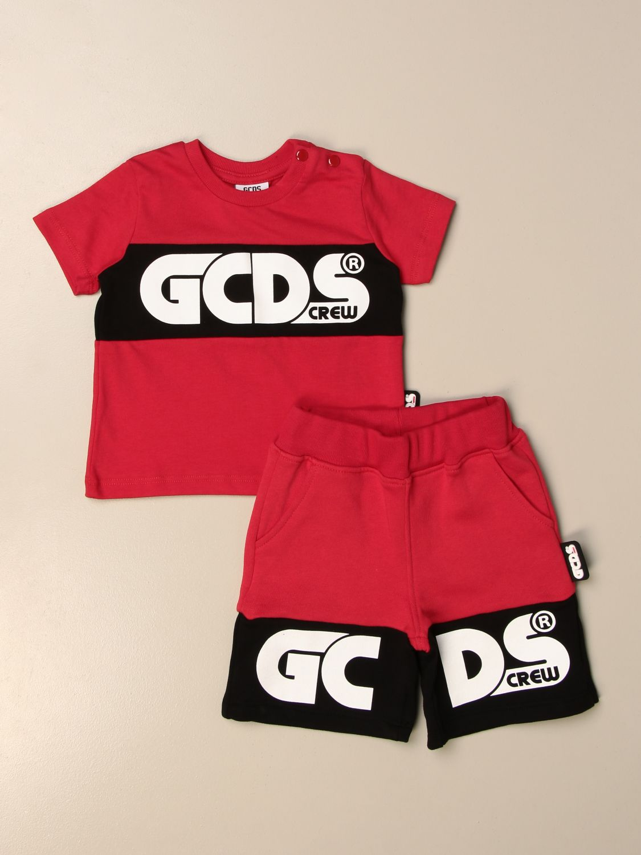 Jumpsuit Gcds: Gcds t-shirt + jogging shorts set red 1