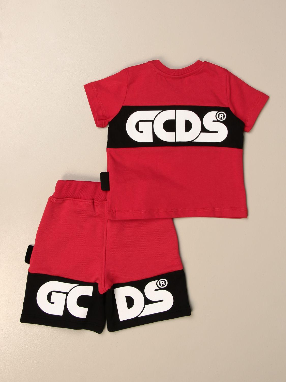 Jumpsuit Gcds: Gcds t-shirt + jogging shorts set red 2