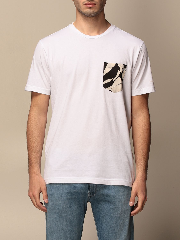 T-shirt Daniele Alessandrini: Pull homme Daniele Alessandrini blanc 1
