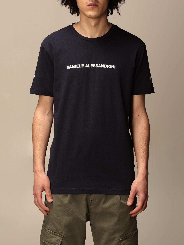 T-shirt Daniele Alessandrini: Pull homme Daniele Alessandrini bleu 1