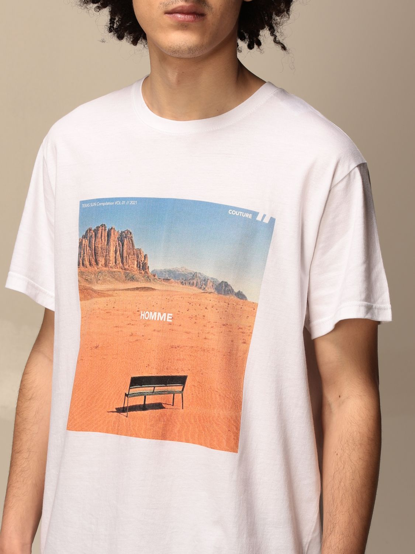 T-shirt Daniele Alessandrini: Pull homme Daniele Alessandrini blanc 3