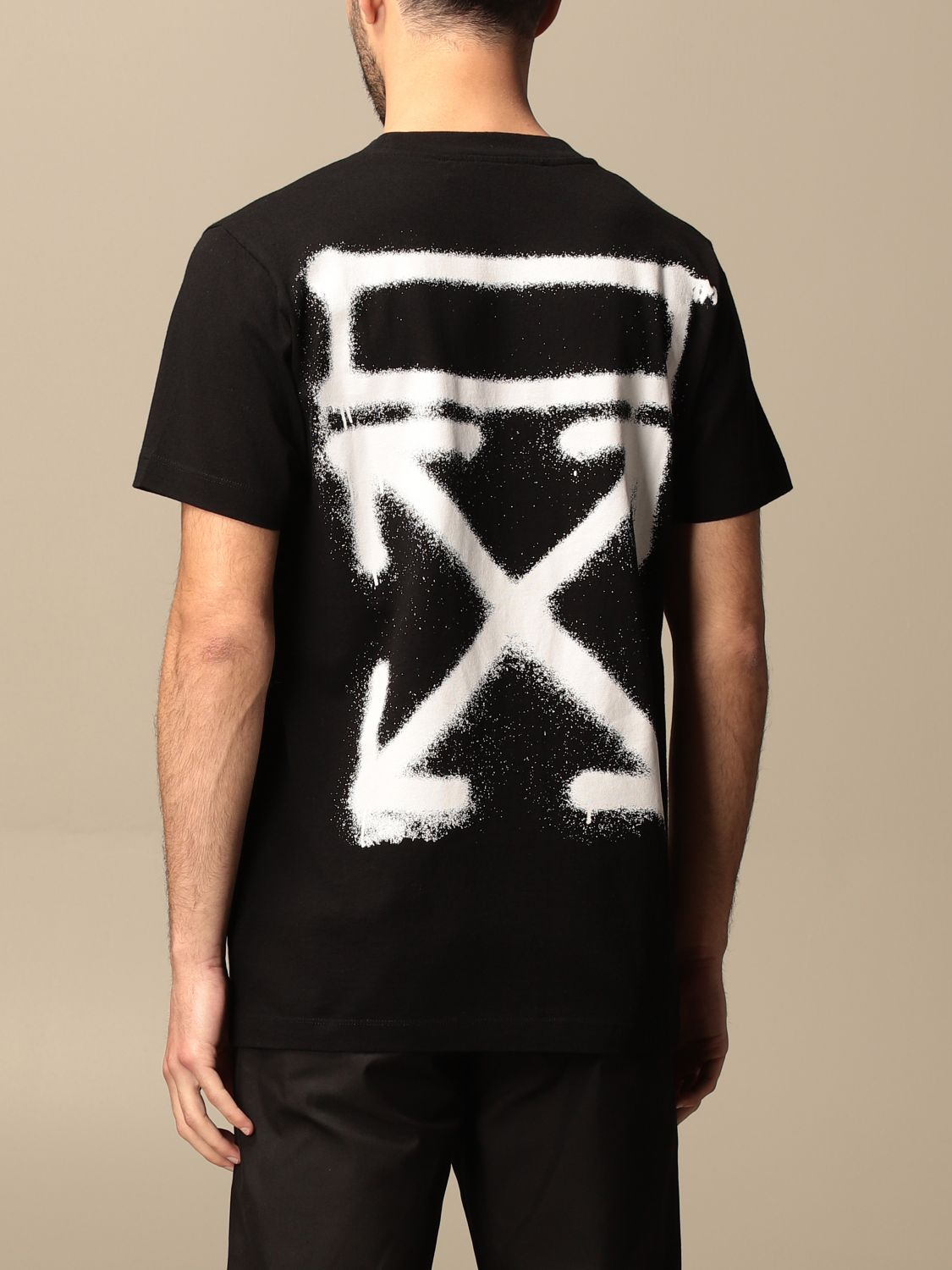 T-shirt Off White: Off White cotton t-shirt with arrows logo black 2