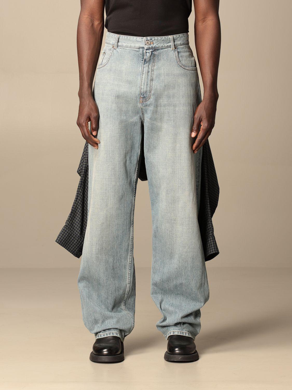 Jeans Balenciaga: Balenciaga over jeans with shirt sewn on the back blue 1