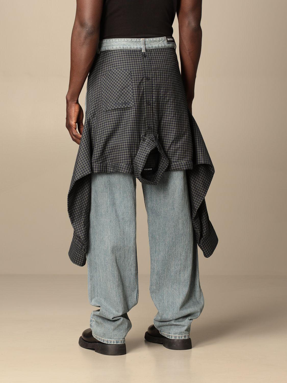 Jeans Balenciaga: Balenciaga over jeans with shirt sewn on the back blue 2
