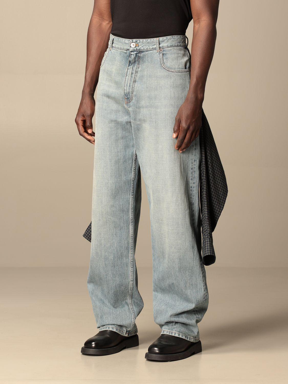 Jeans Balenciaga: Balenciaga over jeans with shirt sewn on the back blue 3