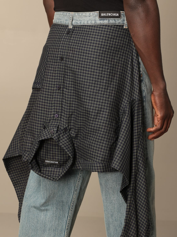 Jeans Balenciaga: Balenciaga over jeans with shirt sewn on the back blue 4