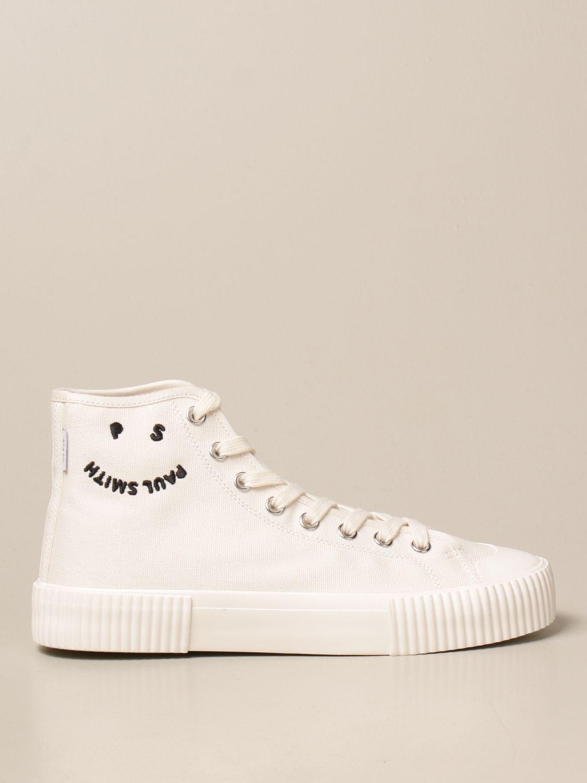 Sneakers Paul Smith London: Sneakers high top Paul Smith London in tela bianco 1