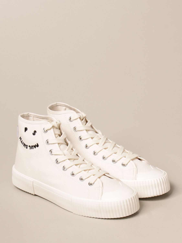 Sneakers Paul Smith London: Sneakers high top Paul Smith London in tela bianco 2