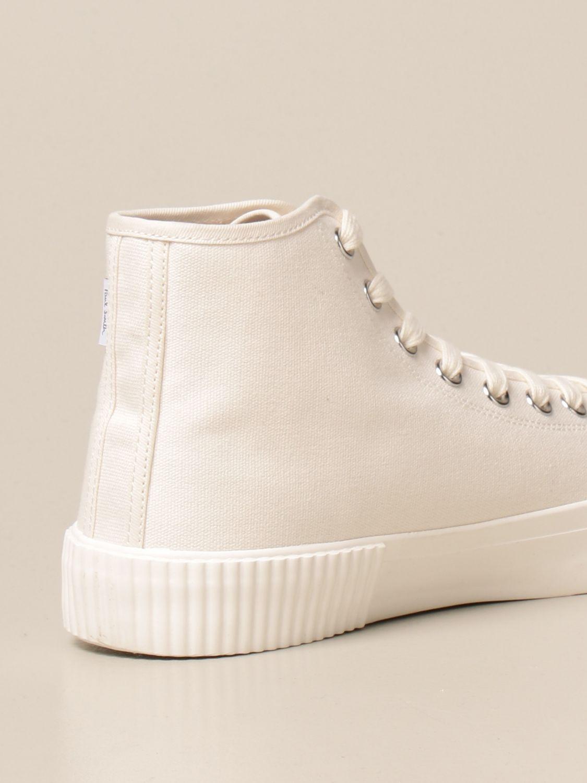Sneakers Paul Smith London: Sneakers high top Paul Smith London in tela bianco 3