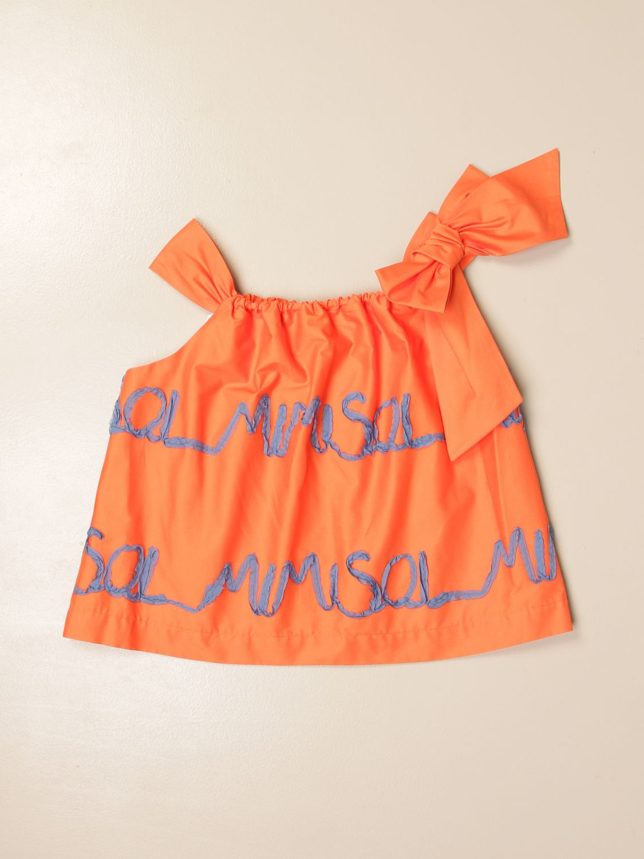 Top Mi Mi Sol: Top enfant Mi Mi Sol orange 1