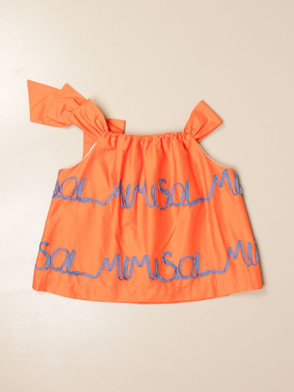 Top Mi Mi Sol: Top enfant Mi Mi Sol orange 2