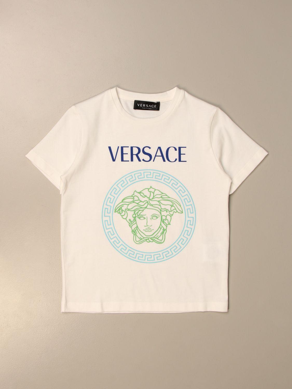 T恤 Young Versace: 婴儿上衣 儿童 Versace Young 白色 1