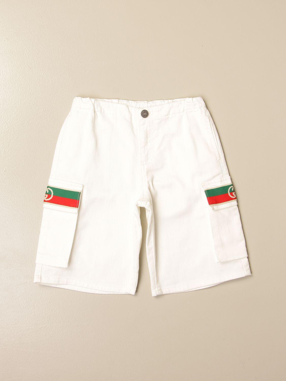 Shorts Gucci: Gucci shorts with Web bands white 1