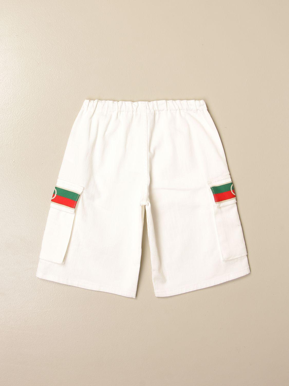 Shorts Gucci: Gucci shorts with Web bands white 2