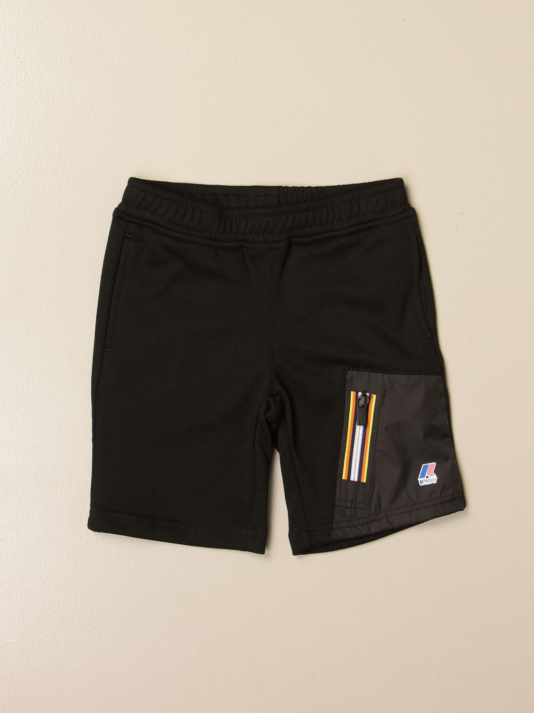 Pantalón corto K-Way: Pantalón niños K-way negro 1