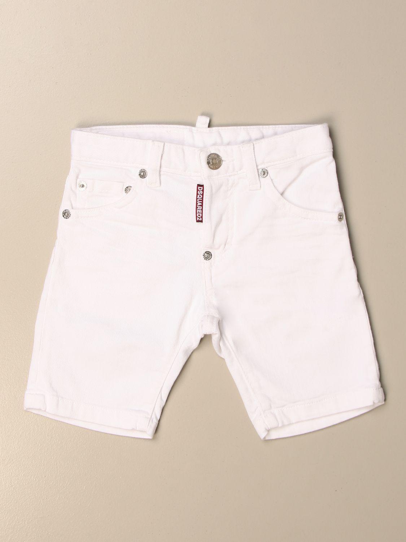 Pantaloncino Dsquared2 Junior: Pantaloncino di jeans Dsquared2 Junior a 5 tasche bianco 1