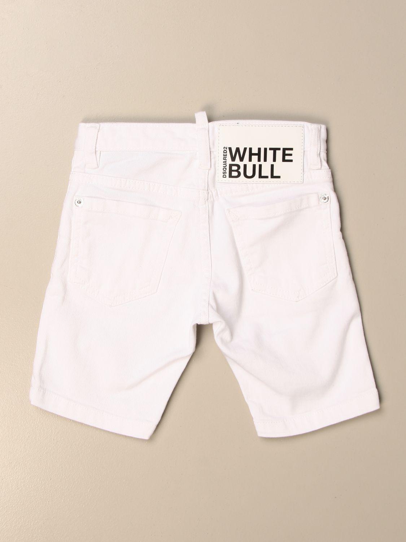 Pantaloncino Dsquared2 Junior: Pantaloncino di jeans Dsquared2 Junior a 5 tasche bianco 2