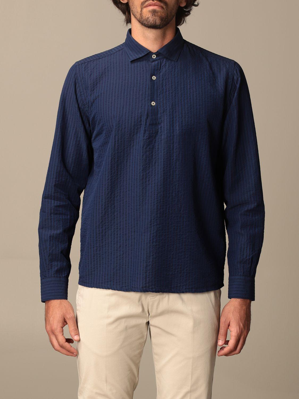 Shirt Brooksfield: Brooksfield basic shirt with micro stripes blue 1