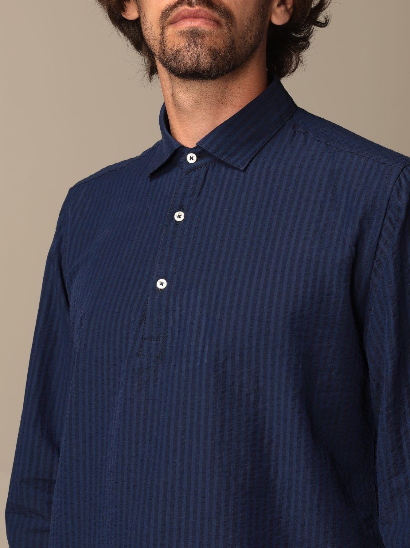 Shirt Brooksfield: Brooksfield basic shirt with micro stripes blue 3