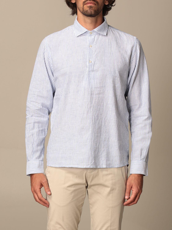 Shirt Brooksfield: Brooksfield shirt with micro stripes blue 1