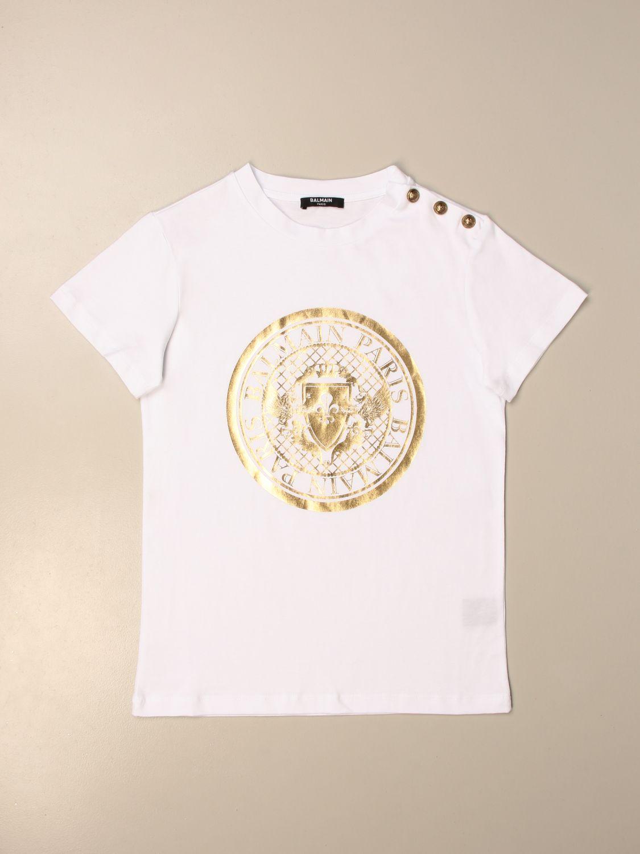 Camisetas Balmain: Camisetas niños Balmain blanco 1