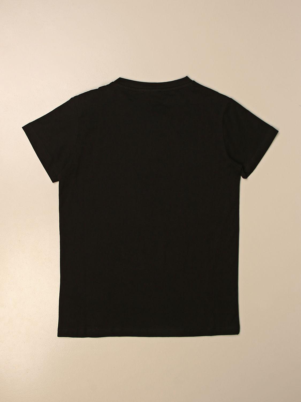T-shirt Balmain: T-shirt Balmain in cotone con logo oro 2