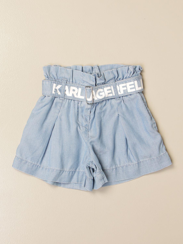 Pantalons courts Karl Lagerfeld Kids: Pantalon enfant Karl Lagerfeld Kids gris 1