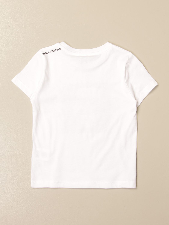 T-shirt Karl Lagerfeld Kids: T-shirt Karl Lagerfeld Kids in cotone con logo Karl bianco 2